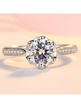 Concise Zircon Wedding Ring
