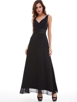 Cheap Straps Crystal A Line Long Evening Dress