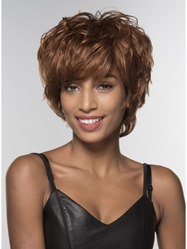 Mishair® Short Shaggy Loose Wavy Human Hair Capless