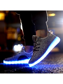 Korean Colofrul Led Lace Up Mens Sneakers