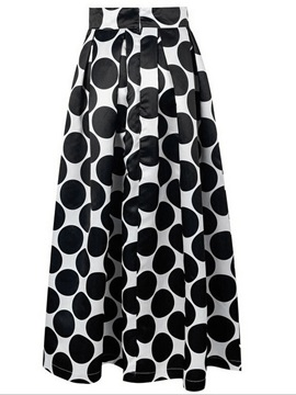 Dots Printed Pleated Skirt