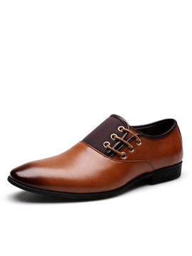 Gradient Color Slip On Mens Dress Shoes