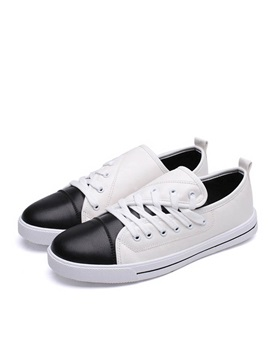 Breathable Color Block Slip On Skater Shoes