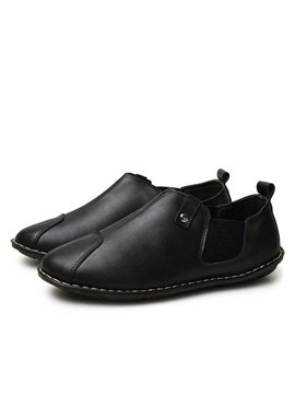 British Pu Thread Slip On Casual Shoes