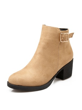 Suede Zippered Ankle Boots