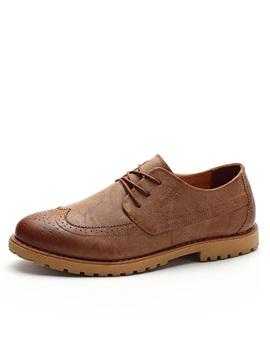 Retro Wingtips Lace Up Casual Shoes