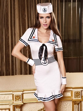 Sexy White Sailor Costume