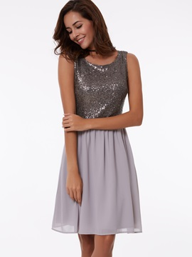 Straps A Line Short Sequins Homecoming Dress