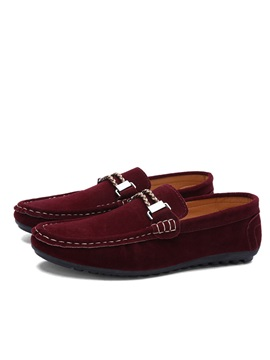 Suede Threads Slip On Driving Shoes