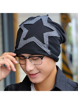 Five Pointed Star Pasted Cloth Mens Hat