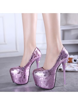 Butterfly Printed High Heeled Prom Shoes