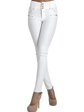 Slim Zipper Button Washable Jeans