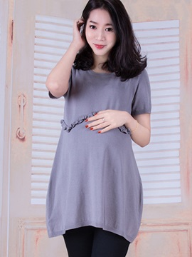 Elegant Knit Loose Fit Maternity Dress