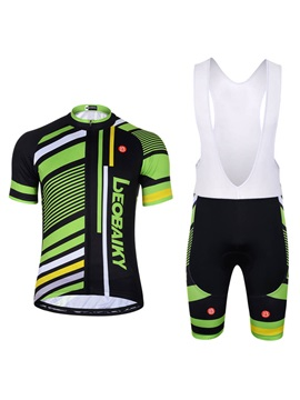 Snug Fitting Breathable Quick Drying Short Bike Jersey And Bib Tights