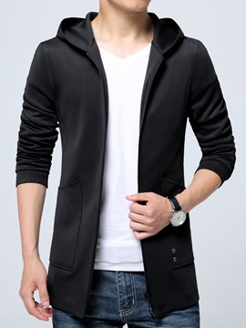 Vogue Pocket Hooded Zipper Mens Causal Jacket