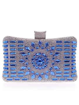 Classical Crystal And Rhinestone Decor Womens Clutches