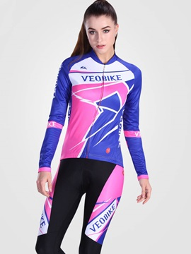 Snug Fitting Breathable Long Sleeve Women Cycling Suit