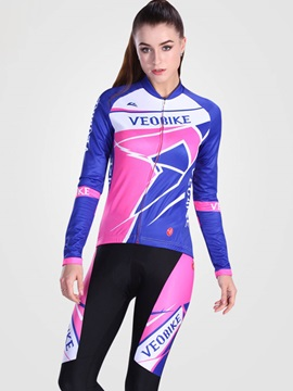 Long Sleeve 3d Padded Quick Drying Women Cycling Suit