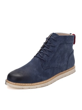 Brush Off Faux Leather Lace Up Mens Boots