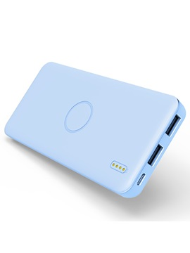 Candy Color Ultra Thin 5000mah Dual Usb Ports Portable Power Bank