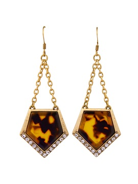 Geometric Leopard Pendant Earrings