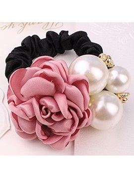 Rose Pearl Decorated Hair Rope