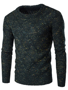 Round Neck Casual Mens Thicken Sweater