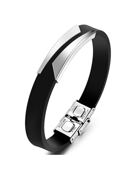 Classic Simple Mens Leather Bracelet