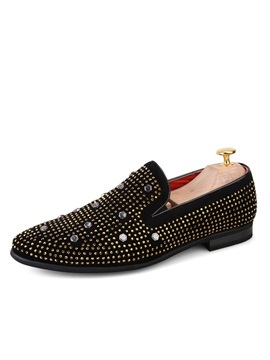Pu Rivets Slip On Mens Dress Shoes