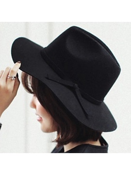 Vogue Wide Brim Pure Color Hat
