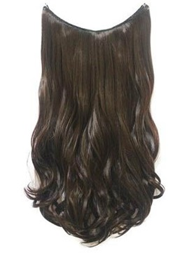 Medium Brown 6 Wavy 100 Human Hair Flip In Hair Extension