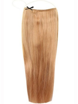Strawberry Blonde 27 Smooth Straight 100 Human Hair Flip In Hair Extension