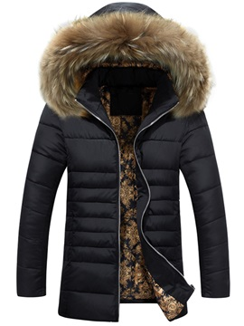 Zipper Hooded Causal Mens Thicken Down Jacket