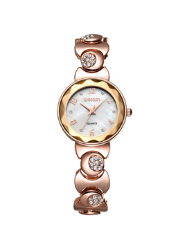Round Dial Diamante Womens Bracelet Watch