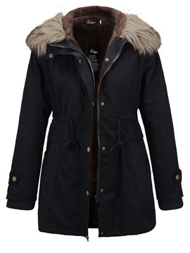 Stylish Lace Up Mid Length Overcoat