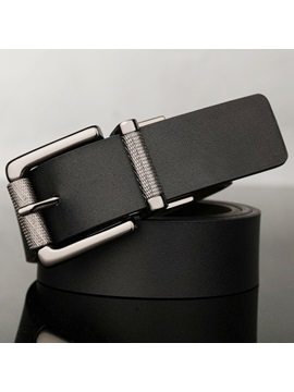 Unique Rotary Pin Buckle Leather Mens Belt
