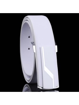 Personality Smooth Buckle Design Mens Belt