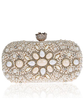 Vogue Beaded Diamante Evening Clutch