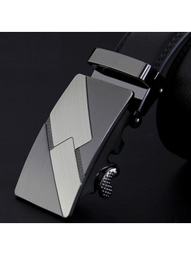 Geometric Automatic Buckle Design Mens Belt