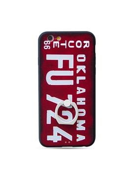 Pctpu Metal Ring Stand Europe And The United States Trend Of Personalized License Plate Phone Case For Iphone 6 6s 6plus 6s Plus