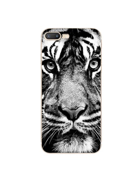 Silicone Abstract Tiger Head Phone Case For Iphone 7 7plus