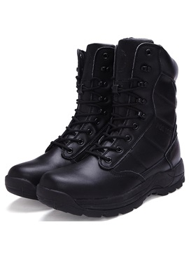 Pu Plain Round Toe Fashion Boots For Man