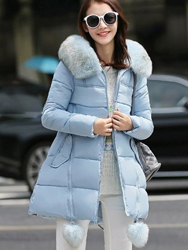 Stylish Zipper Thick Overcoat