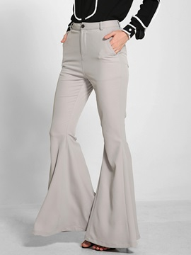 Stylish Slim High Waist Bellbottoms Casual Pants