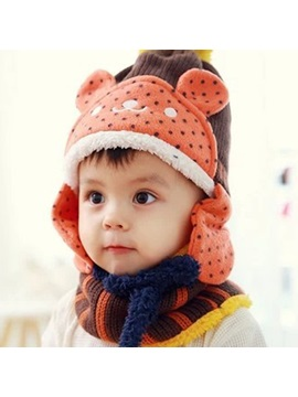 Lovely Bear Design Thicken Kids Hat Neck Warmer