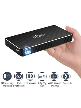 Toumei C800 Pico Projector,mobile Video Projector Rechargeable Hdmi Wifi Portable Video Home Theater,support 1080p Home Cinema
