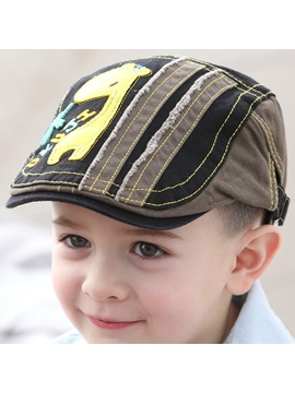 Vogue Giraffe Applique Kids Peaked Hat