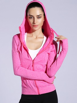 Long Sleeve Ventilate Fast Drying Women Sports Hoodie