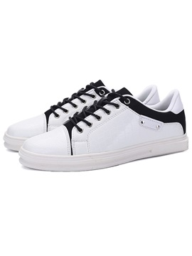 Embossed Leather Lace Up Mens Shoes