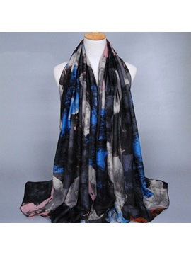 Graffiti Printed Voile Womens Scarf